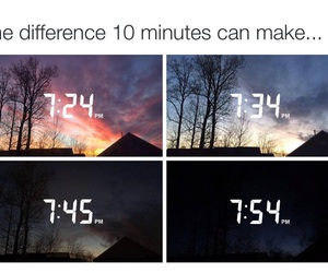 difference, minutes, and night image