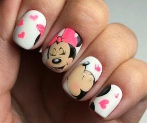 disney, nails, and love image