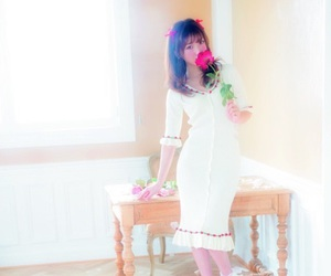 girly, japanese fashion, and red rose image
