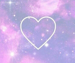 heart, wallpaper, and galaxy image