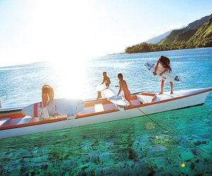 summer, boat, and surf image