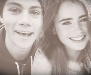 lily collins and dylan o'brien image