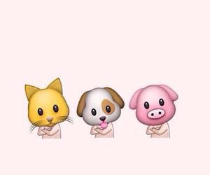 dog, emoji, and pig image