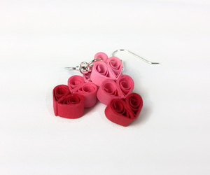 etsy, red hearts, and heart earrings image
