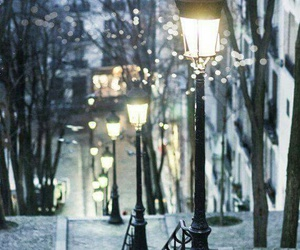 light, paris, and winter image