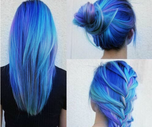 blue, color hair, and hair image