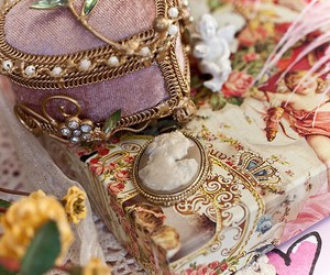 vintage, cameo, and pink image