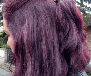 hair purple image