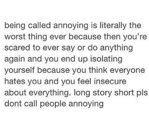annoying, anxiety, and insecure image