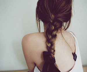 hair, bow, and cabelo image