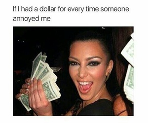 money, dollar, and funny image