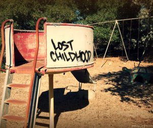 childhood, lost, and playground image