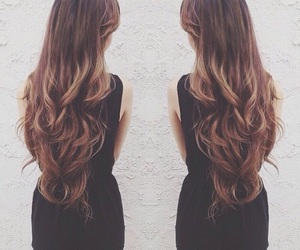 fashion, brunette, and hair image