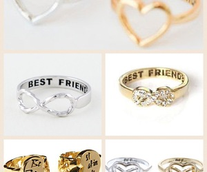 accessories, rings, and best friends image