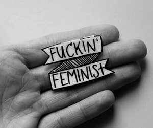 feminist, pink, and feminism image