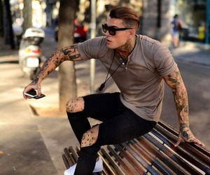 boy, tattoo, and stephen james image
