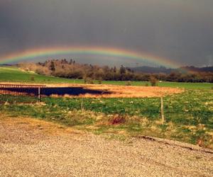 denmark, nature, and rainbow image