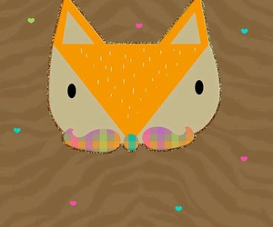 android, fox, and glitter image