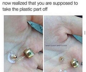 funny, earrings, and lol image