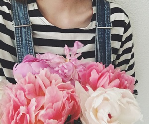 denim, dungarees, and flowers image