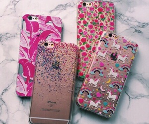 cases, pink, and unicorn image