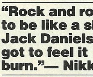 quote, nikki sixx, and rock image