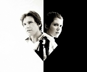 black, harrison ford, and star wars image