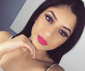 fashion, make up, and pink lipstick image