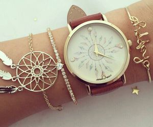 accessories, gold, and watch image