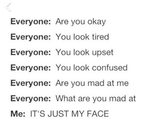 face, funny, and mad image