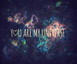 love, universe, and galaxy image