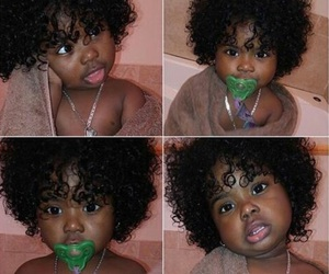 adorable, black, and curls image