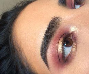 makeup, eyebrows, and make up image