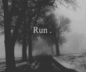 run, black, and black and white image