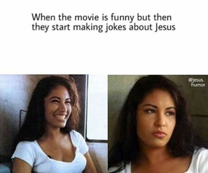 christian, jesus, and jokes image