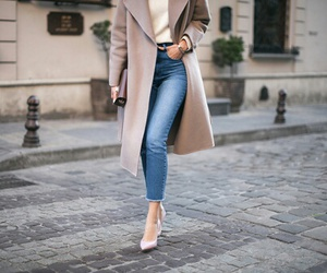 girly, jeans, and fashion image