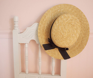 hat, pastel, and pink image