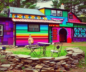 house and colorful image