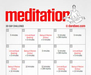 challenge, meditation, and darebee image