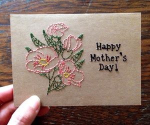 embroidery, happy mother's day, and mother's day image