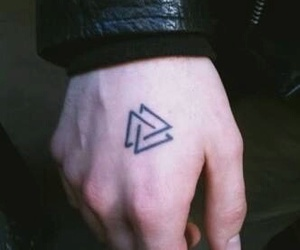 cool, tattoo, and triangle image