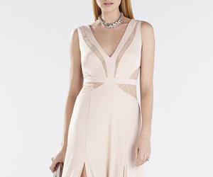 bcbg evening dress, 2016 bcbg dress, and bcbg v neck lace dress image