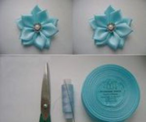 diy, flowers, and ribbon image
