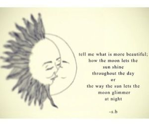 moon, quote, and sun image