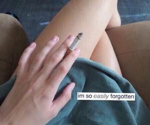cigarette, sad, and smoke image