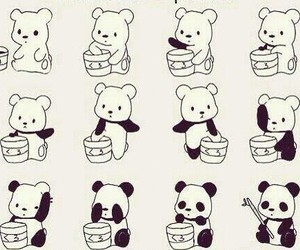 panda, cute, and bear image