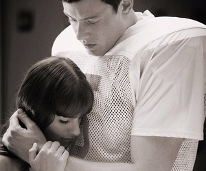 glee, cory monteith, and finchel image