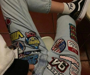 jeans, grunge, and theme image