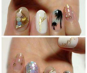 nails, nail art, and summer image