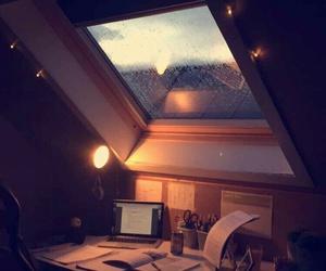 rain, study, and home image